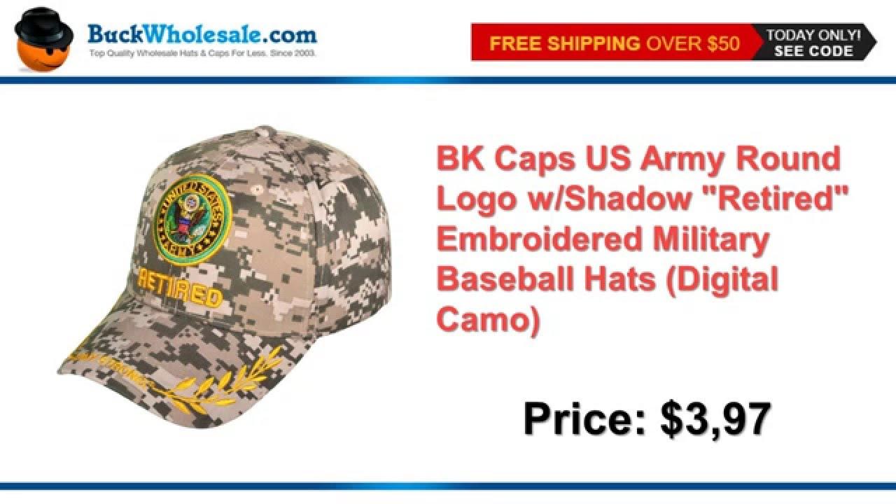BK Caps US Army Round Logo w Shadow
