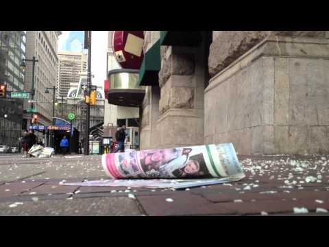 Dancing blossoms, blowing newspapers, Philadelphia
