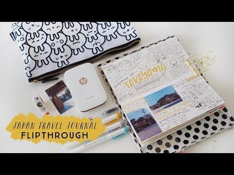 Flipthrough of my Travel Journal - Japan travel journal: Kyoto, Kanazawa, Takayama, Tokyo