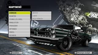 Bug menu need for speed pro street