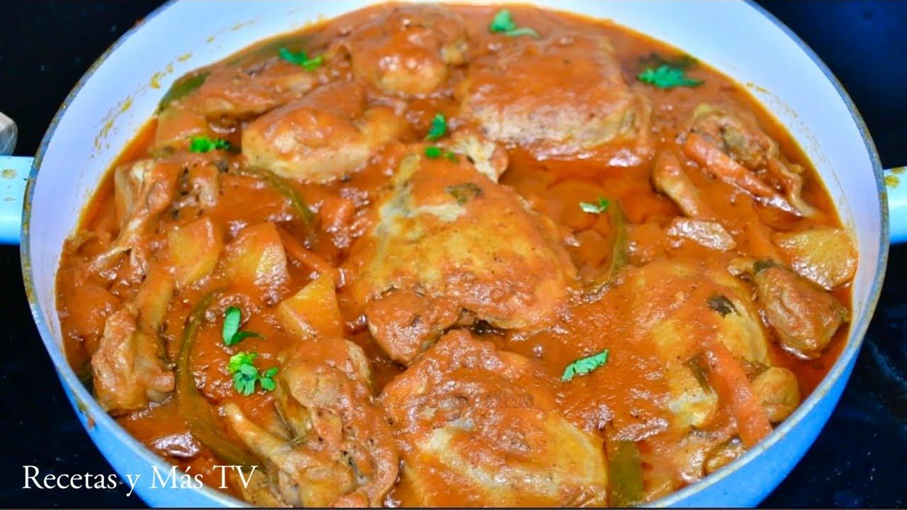 Estofado de pollo Muy Fácil y Sabroso, una receta de chuparse los dedos!
