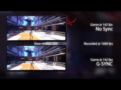 [Slow motion] G-SYNC vs no Sync on LG 34UC89G-B @ 144 Hz