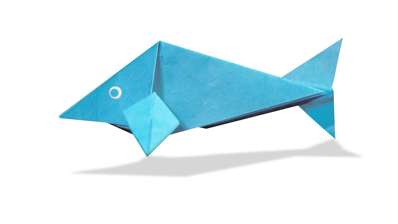 3d origami fish diy origami fish learn origami how for How to make fish