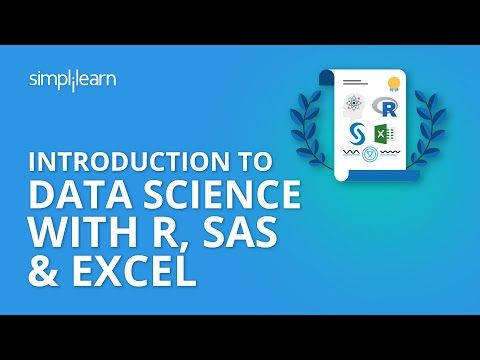 Introduction To Data Science With R, SAS & Excel  | Simplilearn