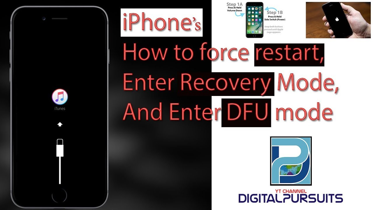 Apple Iphone How To Force Restart Enter Recovery Mode And Enter
