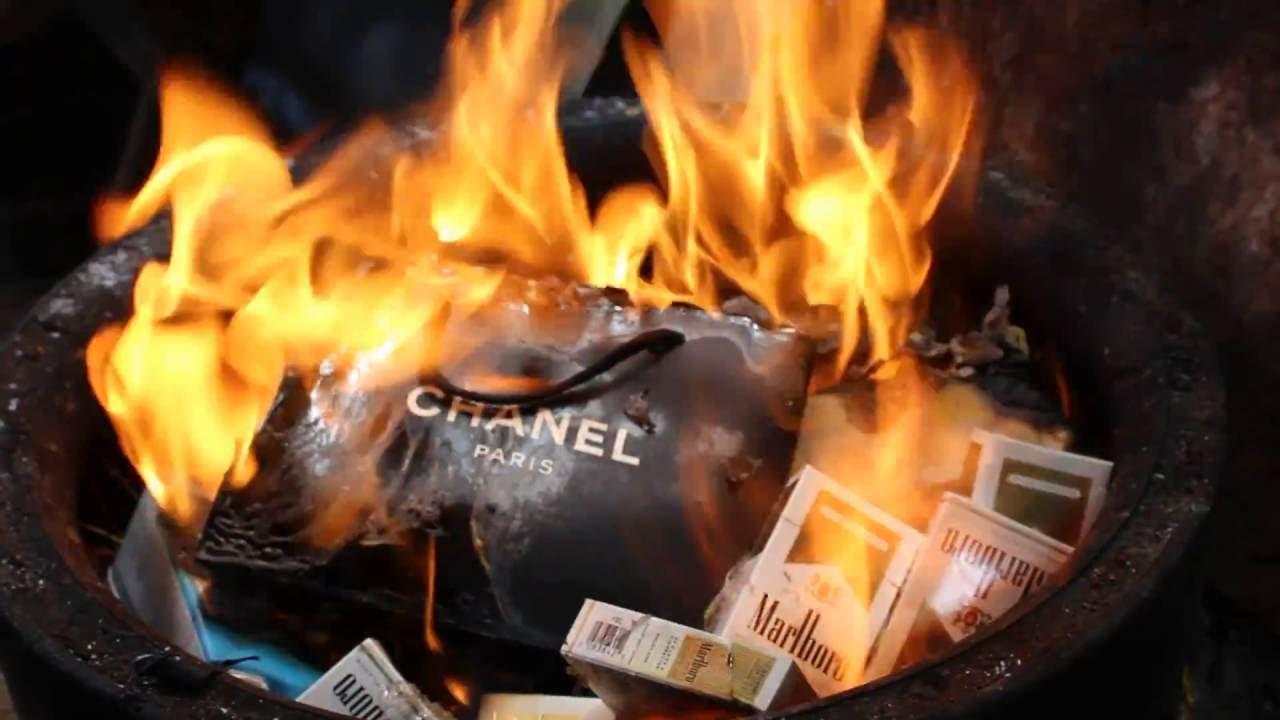 Burning A Chanel Shopping Bag Mcdonalds Trash And
