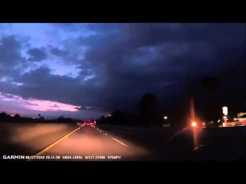 Phoenix-Los Angeles on Interstate 10 #4: Los Angeles May Gloom nightfall 2015-05-17