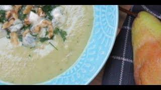 Cauliflower Soup - Cauliflower Soup with Pear and Gorgonzola