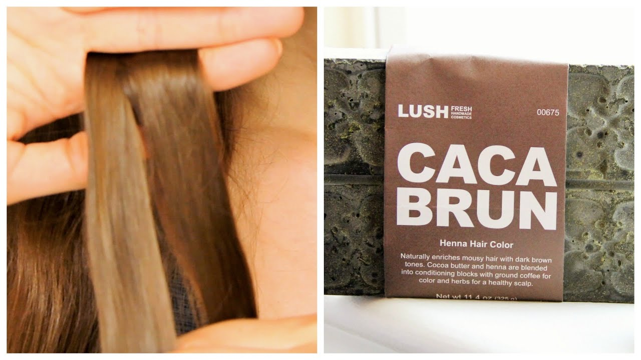Testing Lush Henna On Brown Hair Caca Brun Youtube