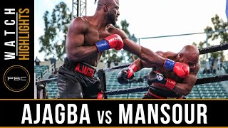 Ajagba vs Mansour HIGHLIGHTS: March 9, 2019 — PBC on FOX
