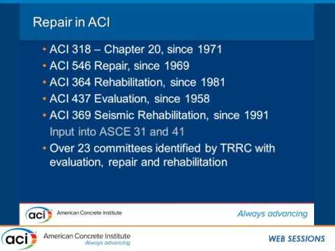 History and Background of the ACI 562 Code