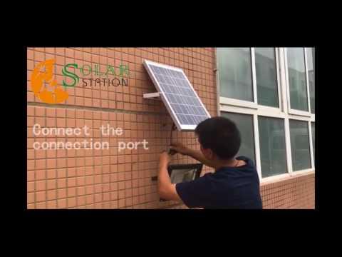 Solar flood light installation procedure