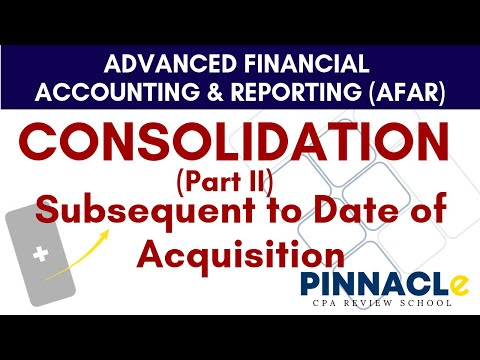 AFAR: CONSOLIDATION (Part II) | SUBSEQUENT TO DATE OF ACQUISITION | BUSINESS COMBINATION