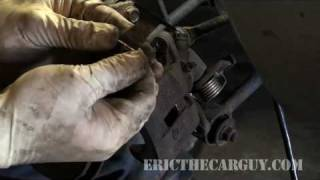 Replacing Rear Disc Brakes Part 1 - Ericthecarguy