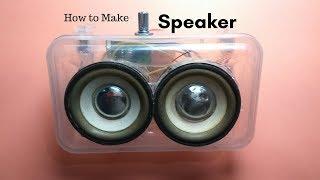 How to Make Speakers || Portable Speaker || From Old Speaker