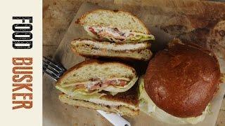 Chicken Schnitzel Burger With Baconnaise