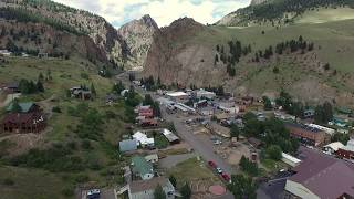 beautiful creede colorado aerial flyover in 4k