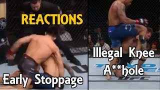 MMA Reacts to Henry Cejudo KO TJ Dillashaw 32 Sec | Greg Hardy Illegal Knee DQ - UFC Brooklyn