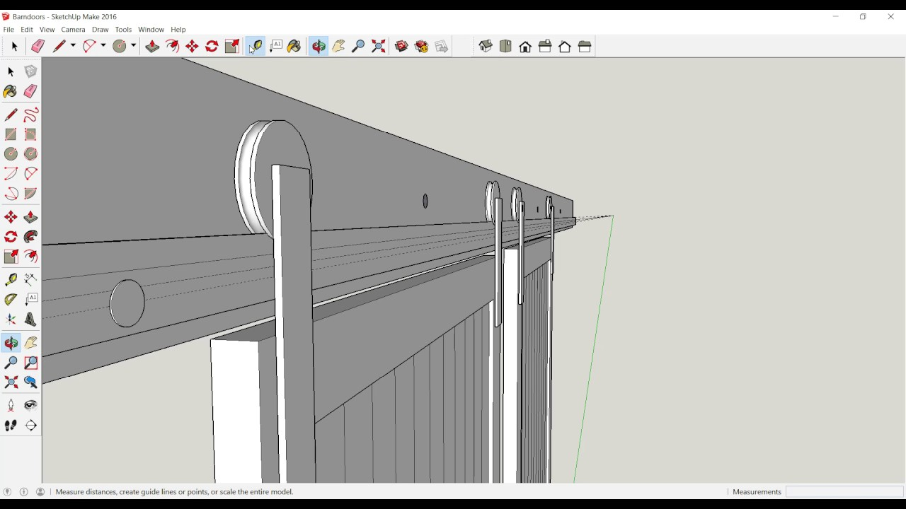 How to draw a gambrel roof in sketchup - Barn Door Build Sketchup