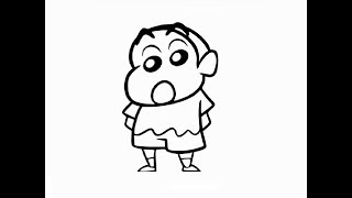 """How to draw standing """"Shin Chan cartoon"""" drawing step by step"""