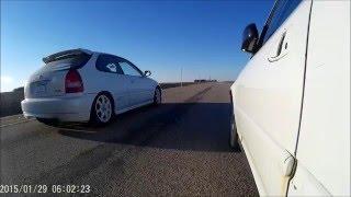 All Motor Built D16 vs Civic Type R!!!