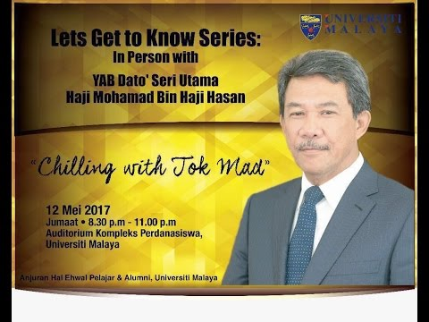 In Person with YAB Dato' Seri Utama Haji Mohamad Bin Haji Hasan (Chilling with Tok Mat)