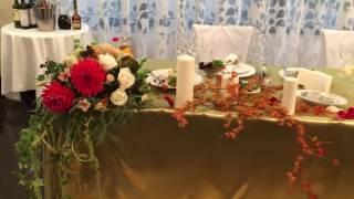 Оформление стола молодоженов