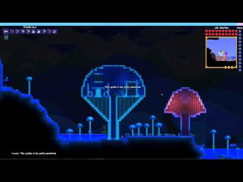 Terraria 1 2 Mushroom Biome Extended Youtube