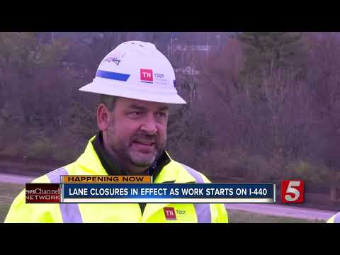 I-440 Construction begins