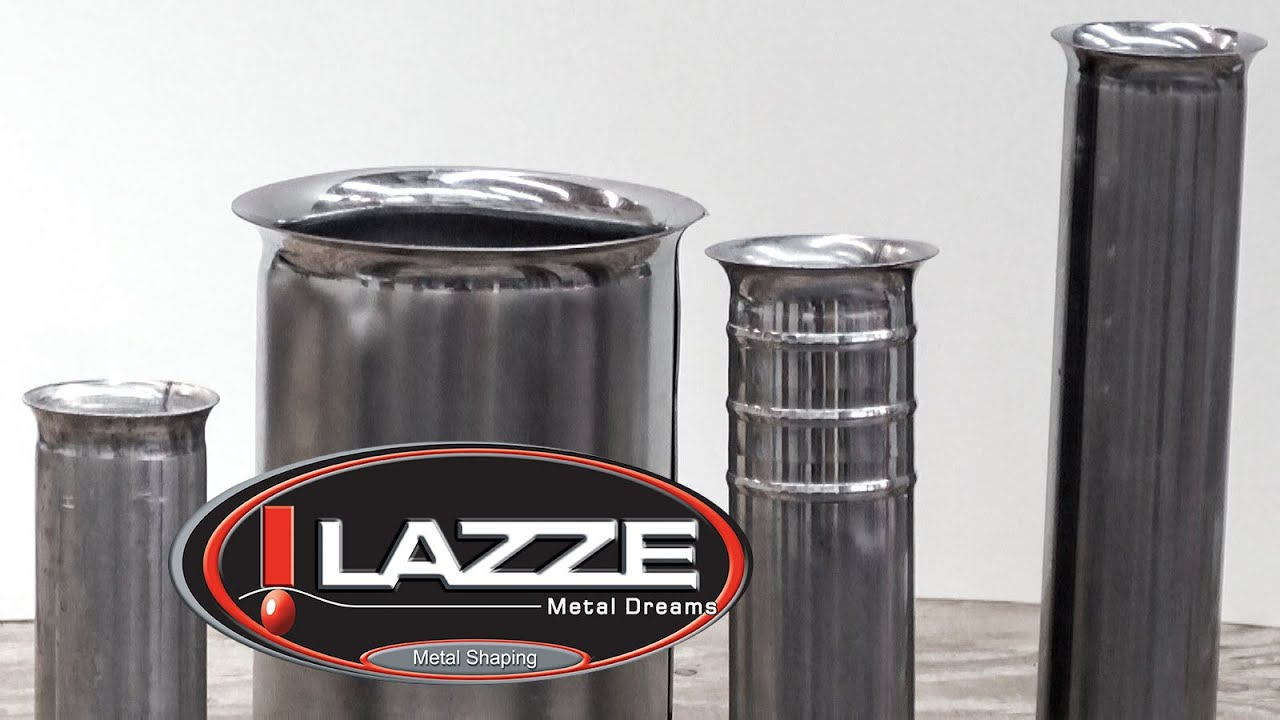 & Lazze Metal Shaping: Flaring Tubing in the Bead Roller - YouTube