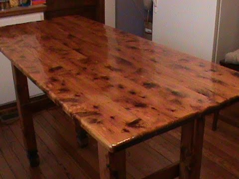 refinishing table top youtube. Black Bedroom Furniture Sets. Home Design Ideas