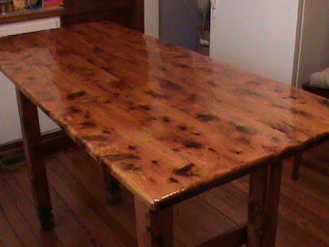 Refinishing Table Top  YouTube