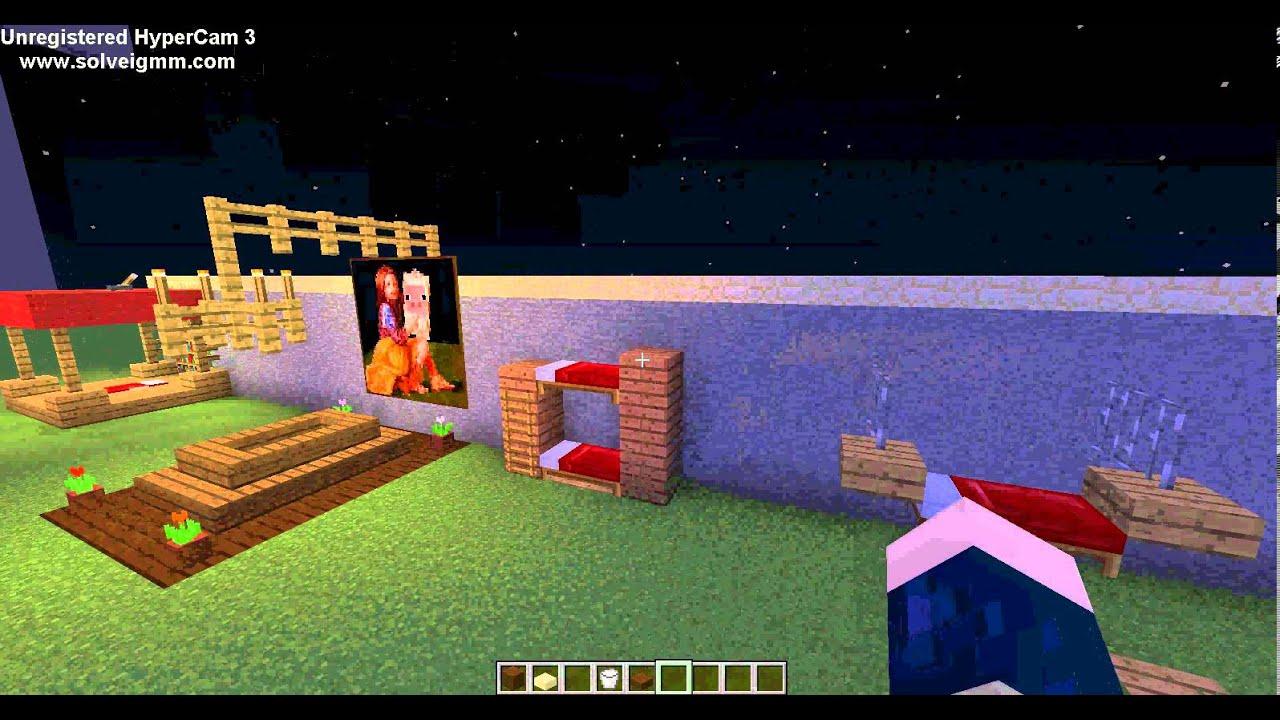 Minecraft tutorial betten dekoration german youtube - Minecraft dekoration ...