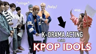 ACTING with KPOP IDOLS ft. IN2IT *cringe* lol