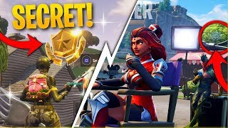 Fortnite Week 6 SECRET Star Location! How To Get 10 Free Stars! (Week 6 Blockbuster Challenge)