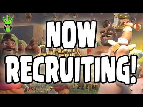 CLAN TRYOUTS! - Clan War Event Recruiting + Clash Caller Tutorial! - Clash of Clans! - Clan Wars