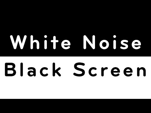 White Noise Black Screen | Sleep, Study, Focus, Soothe a Baby | 10 Hours