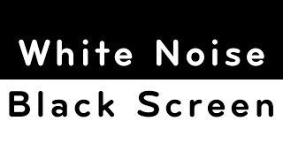 White Noise Black Screen | Sleep, Study, Focus | 10 Hours