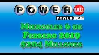 Gambar cover Resultados Powerball 6 de Febrero 2019 $204 Millones de dolares  Powerball en Español