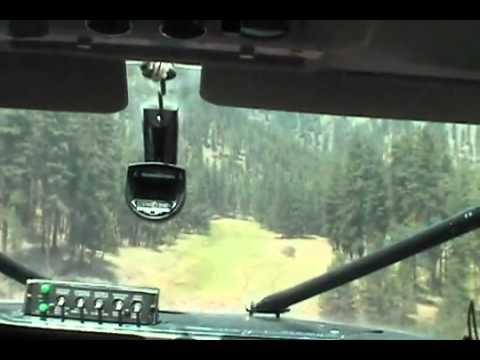 Cessna 206 backcountry flying Salmon River Idaho (Allison Ranch)