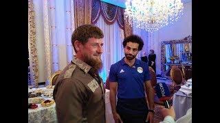 جانب من حفل تكريم رئيس الشيشان للمنتخب المصري ومنح صلاح وسام المواطنة
