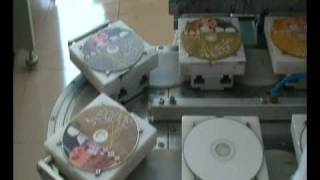 4-color pad printing machine for cd/dvd