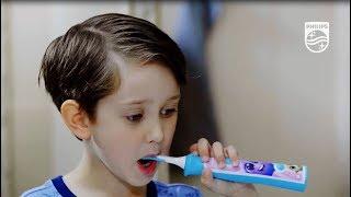 обзор электрической зубной щетки Philips HX6322/04 для детей 3-10 лет