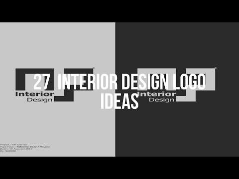 🔴 27  INTERIOR DESIGN LOGO Ideas