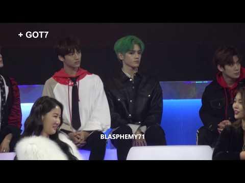 171201 MAMA NCT taeyong reaction to BTS , SJ ...