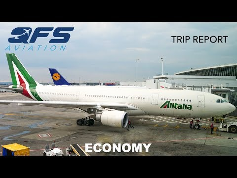 TRIP REPORT | Alitalia - A330 200 - New York (JFK) To Rome (FCO) | Economy