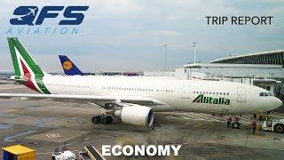 TRIP REPORT | Alitalia - A330 200 - New York (JFK) to Rome (FCO) | Economy thumbnail