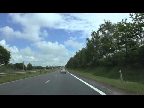 Driving On The N12 E50 From Locménard, Grâces To Plérin, Brittany, France 30th May 2014