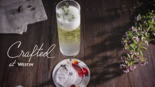 Crafted at Westin Cocktails: Bellini Thyme