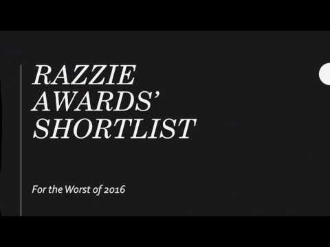 Razzie Awards 2017 Shortlist!!!